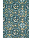 RugStudio presents Loloi Juliana JL-37 Teal / Gold Hand-Hooked Area Rug
