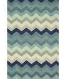 RugStudio presents Loloi Mayfield Mf-06 Multi / Blue Hand-Hooked Area Rug