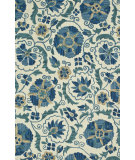 RugStudio presents Loloi Mayfield Mf-10 Ivory / Blue Hand-Hooked Area Rug