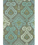 RugStudio presents Rugstudio Sample Sale 68430R Grey / Mist Hand-Hooked Area Rug