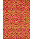RugStudio presents Loloi Milano Ml-09 Gold / Berry Hand-Hooked Area Rug