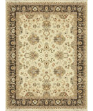 RugStudio presents Loloi Majestic Mm-06 Ivory / Mocha Hand-Knotted, Best Quality Area Rug
