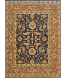 RugStudio presents Rugstudio Sample Sale 92243R Dark Navy / Rust Hand-Knotted, Best Quality Area Rug