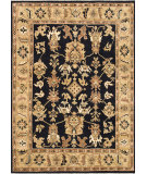 RugStudio presents Rugstudio Sample Sale 92245R Black / Light Gold Hand-Knotted, Best Quality Area Rug