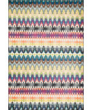 RugStudio presents Loloi Madeline MZ-14 Multi Stripe Machine Woven, Good Quality Area Rug