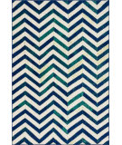 RugStudio presents Loloi Madeline MZ-18 Ivory / Blue Machine Woven, Good Quality Area Rug