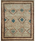 RugStudio presents Loloi Nomad Nm-03 Aqua - Beige Hand-Knotted, Best Quality Area Rug