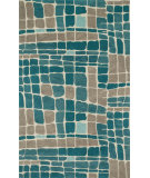 RugStudio presents Loloi Nova NV-01 Teal / Grey Woven Area Rug
