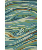 RugStudio presents Rugstudio Sample Sale 81103R Teal / Multi Area Rug