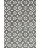 RugStudio presents Rugstudio Sample Sale 102596R Grey / Ivory Machine Woven, Better Quality Area Rug