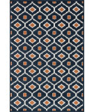 RugStudio presents Loloi Oasis Os-03 Navy / Orange Machine Woven, Better Quality Area Rug