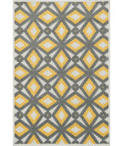 RugStudio presents Loloi Oasis Os-04 Grey / Lemon Machine Woven, Better Quality Area Rug