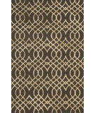 RugStudio presents Loloi Panache Pc-02 Chocolate / Khaki Hand-Hooked Area Rug