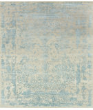 RugStudio presents Loloi Pearl Pu-02 Heather Gray - Aqua Hand-Knotted, Good Quality Area Rug