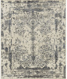 RugStudio presents Loloi Pearl Pu-02 Heather Gray - Navy Hand-Knotted, Good Quality Area Rug