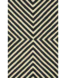 RugStudio presents Loloi Palm Springs Pm-01 Black / Ivory Hand-Hooked Area Rug
