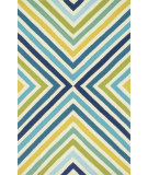 RugStudio presents Loloi Palm Springs Pm-01 Blue / Green Hand-Hooked Area Rug