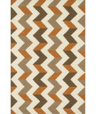 RugStudio presents Loloi Palm Springs Pm-03 Brown / Orange Hand-Hooked Area Rug
