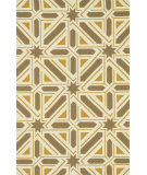 RugStudio presents Loloi Palm Springs Pm-04 Taupe / Gold Hand-Hooked Area Rug