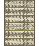 RugStudio presents Loloi Palm Springs Pm-05 Brown / Green Hand-Hooked Area Rug