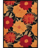 RugStudio presents Loloi Riviera Rv-01 Black / Spice Machine Woven, Best Quality Area Rug