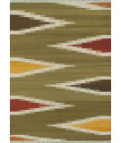 RugStudio presents Rugstudio Sample Sale 68460R Green / Multi Woven Area Rug