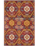 RugStudio presents Loloi Spencer Sc-01 Hm Collection Crimson / Gold Hand-Knotted, Good Quality Area Rug