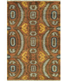 RugStudio presents Loloi Spencer Sc-02 Hm Collection Blue / Cinnamon Hand-Knotted, Good Quality Area Rug