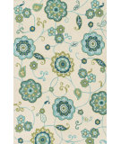 RugStudio presents Loloi Summerton RS-24 Ivory / Aqua Hand-Hooked Area Rug