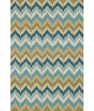 RugStudio presents Loloi Summerton Sumrsrs01 Aqua/Green Hand-Hooked Area Rug