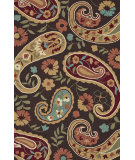 RugStudio presents Loloi Summerton Sumrsrs12 Chocolate/Multi Hand-Hooked Area Rug