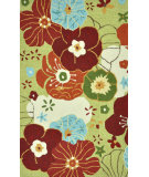 RugStudio presents Loloi Summerton Sumrssc08 Lime/Multi Hand-Hooked Area Rug