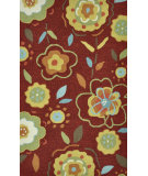RugStudio presents Loloi Summerton Sumrssc10 Red/Yellow Hand-Hooked Area Rug