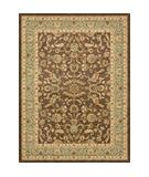 RugStudio presents Rugstudio Sample Sale 22218R Brown Blue Machine Woven, Better Quality Area Rug