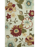 RugStudio presents Loloi Summerton Sumrssc12 Ivory / Olive Hand-Hooked Area Rug