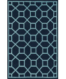 RugStudio presents Loloi Stephanie Stepsw-02 Navy / Aqua Hand-Hooked Area Rug