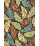 RugStudio presents Loloi Tropez Tz-02 Brown / Multi Hand-Hooked Area Rug