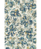 RugStudio presents Rugstudio Sample Sale 102664R Ivory / Floral Hand-Hooked Area Rug