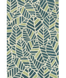 RugStudio presents Loloi Tropez Tz-05 Blue / Green Hand-Hooked Area Rug