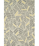 RugStudio presents Loloi Tropez Tz-05 Grey / Gold Hand-Hooked Area Rug