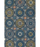 RugStudio presents Loloi Tropez Tz-07 Navy / Multi Hand-Hooked Area Rug