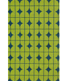 RugStudio presents Loloi Venice Beach Vb-03 Lime / Blue Hand-Hooked Area Rug