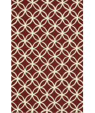 RugStudio presents Loloi Venice Beach Vb-05 Red / Ivory Hand-Hooked Area Rug