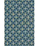 RugStudio presents Loloi Venice Beach Vb-11 Blue / Ivory Hand-Hooked Area Rug
