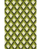 RugStudio presents Loloi Venice Beach Vb-12 Green Trellis Hand-Hooked Area Rug