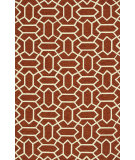 RugStudio presents Loloi Venice Beach Vb-13 Rust / Ivory Hand-Hooked Area Rug