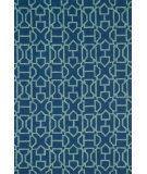 RugStudio presents Loloi Venice Beach VB-21 Navy / Aqua Hand-Hooked Area Rug