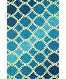 RugStudio presents Loloi Venice Beach VB-18 Blue / Green Hand-Hooked Area Rug