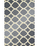 RugStudio presents Loloi Venice Beach VB-18 Charcoal / Lime Hand-Hooked Area Rug