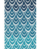 RugStudio presents Loloi Venice Beach VB-20 Blue / Multi Hand-Hooked Area Rug